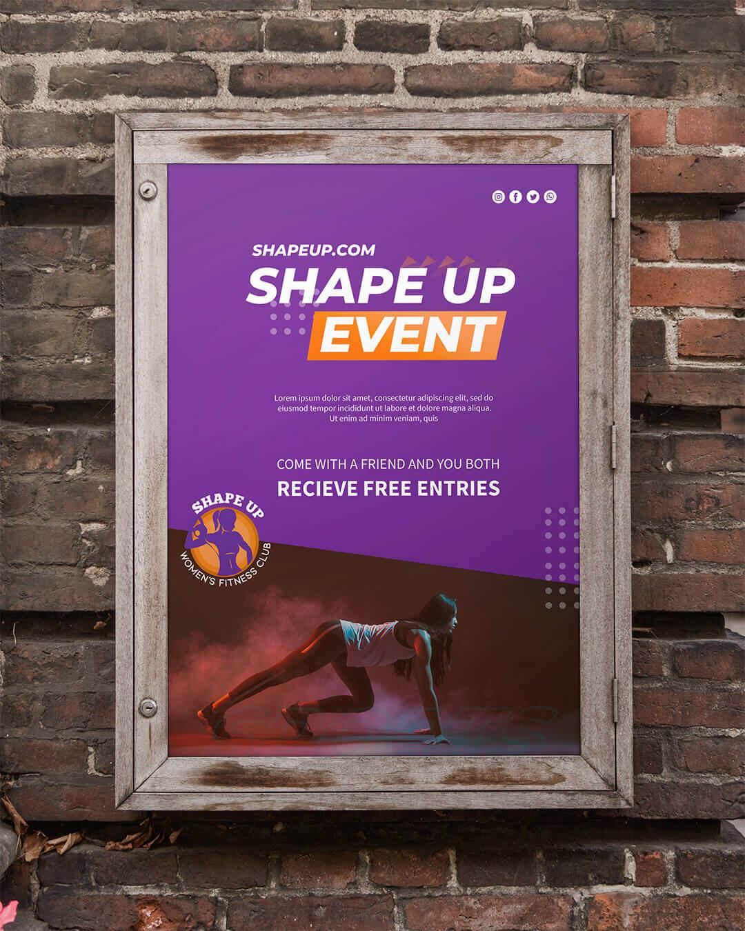 Shape Up Signage